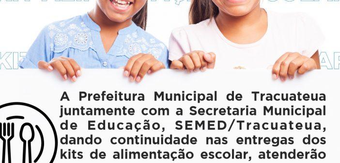 Prefeitura de Tracuateua Atenderá Todas as Escolas da Rede Pública com o Kit Alimentação