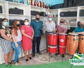 Nesta manhã de segunda-feira, 26, ocorreu a cerimônia de inauguração da escola de música Municipal